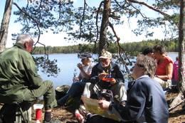 Rast ved Brønnerødtjern - Foto: DNT Vansjø