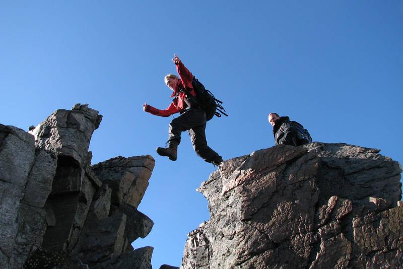 Luftige sprang hører med til utfordringene underveis.