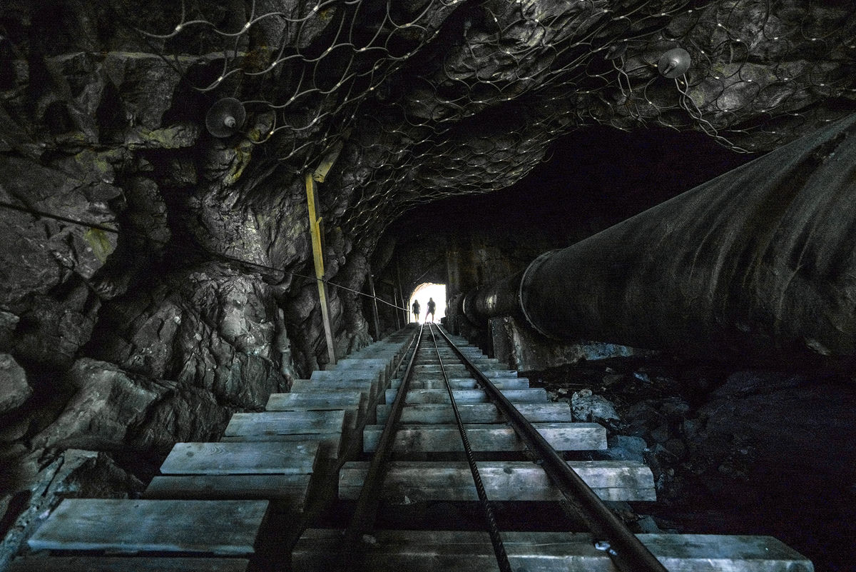 Tunnelen på ca. trinn 1000