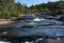 Badeplass i Kuåna ved Jeppestølvannet -  Foto: Helga Skautroll