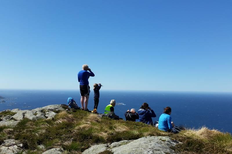 Utsikt vest i havet frå Store Skorekinna