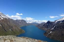 Utsikt fra Sjugurstind - Foto: Lise Iversen Ottermo