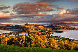 Utsikt fra Øyna på Inderøys tak - Foto: Visit Innherred AS