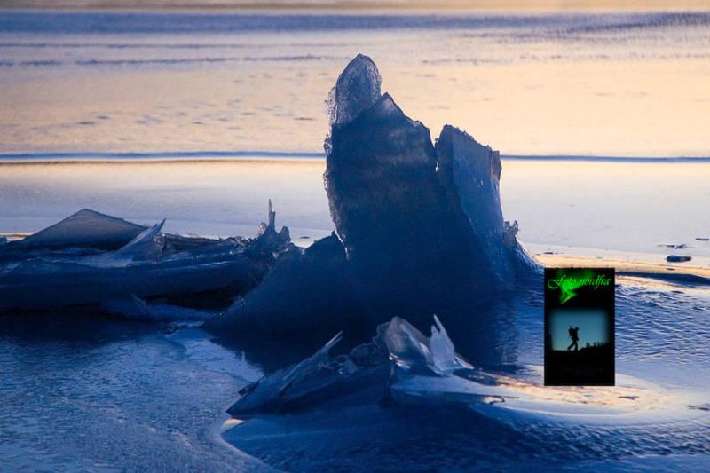 Havet i Glimma fryser lett og kan danne mange fine fotomotiver