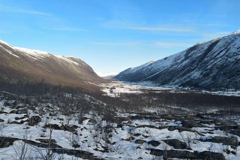Utsikt utover Grøvudalen fra Litjgrøvudalen