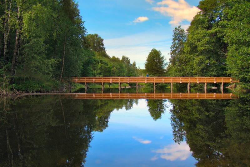 Kjelsåsbroen langs Akerselven