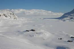 Vinter ved Iungsdalshytta - Foto: DNT Oslo og Omegn