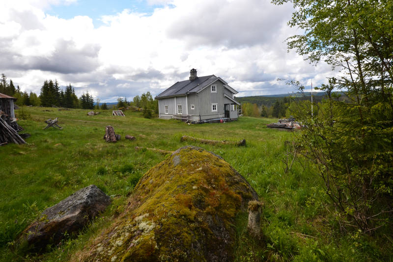 Hytta ligger åpent til på Finnskogen.