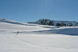 Godt og variert skiterreng i omrŒdet rundt Selhamar. Raudberget bak. - Foto: Torill Refsdal Aase