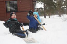 Gode forhold for å grave snøhule. - Foto: Tor Magne Andreassen