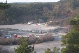 Bakkevoll på Klepland med E39 i forgrunnen. - Foto: Floke Bredland