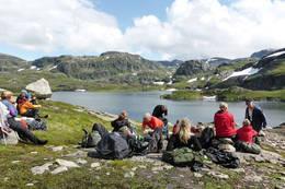 Pause langs Vaula -  Foto: Audhild Sannes