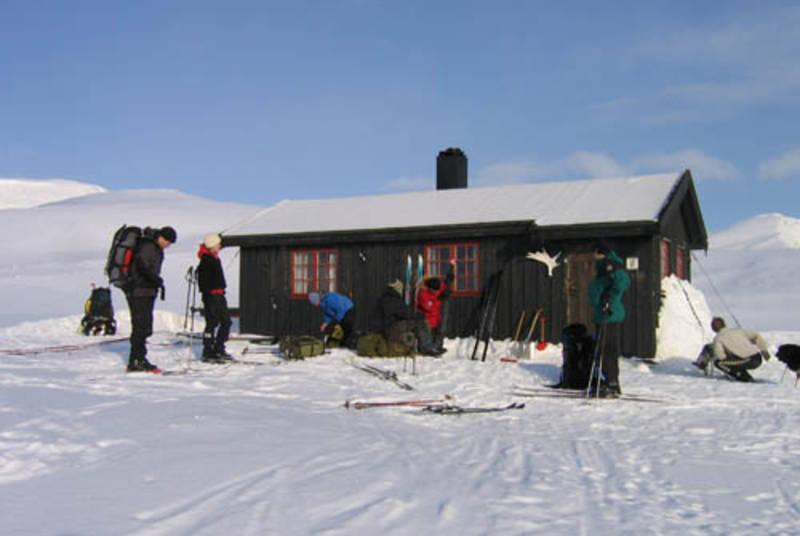 Vouma-hytta vinterstid