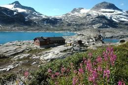 Utsikt mot Veltdalshytta -  Foto: Knut Gjerde