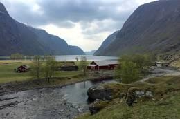 Utsikt frå utleiehytta  - Foto: Katrine Bjerkli