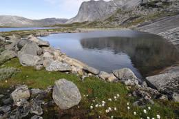 Stien følger høyresiden av bildet - Foto: Kjell Fredriksen