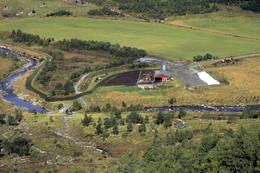Utsikt mot fellesbeite i Klakkan, der turen starter. -  Foto: Eirik Gudmundsen