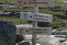 Stiskillet mellom breveien og illvannsveien mellom Nørstedalsseter og Sota Sæter. - Foto: Frederik Emil