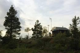 Ruketuten på toppen, Hytta er en basestasjon for sikringsradioer - Foto: Tor-Erik Larsen