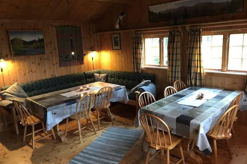 Flott stue på Vindølbu