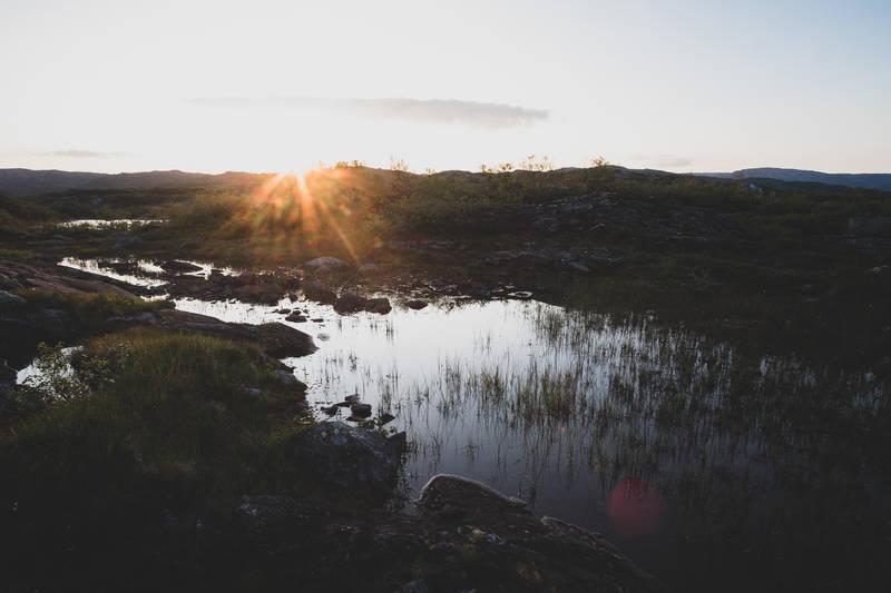 Kveldssol på Taumevatn
