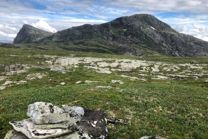 Utsikt mot Håsteinen frå Fagernipa 685 moh