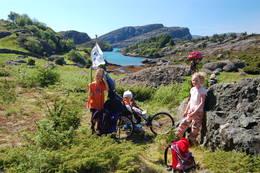 På tur ved Råkeneset sommeren 2009 - Foto: Sogndal Turlag