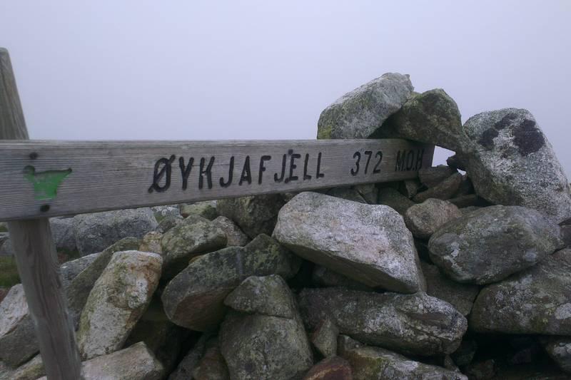 Øykjafjell -372 meter over havet