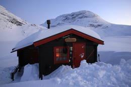 Tjønnebu om vinteren - Foto: Karl Egil Liaset