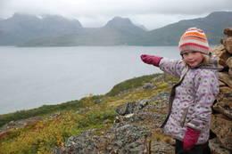 Og fin utsikt andre veien. Mot sørvest ser du blant annet Blåmann. - Foto: Åshild Ønvik Pedersen