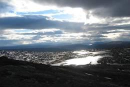 Utsikt fra Kuhaugfjellet. -  Foto: Ukjent
