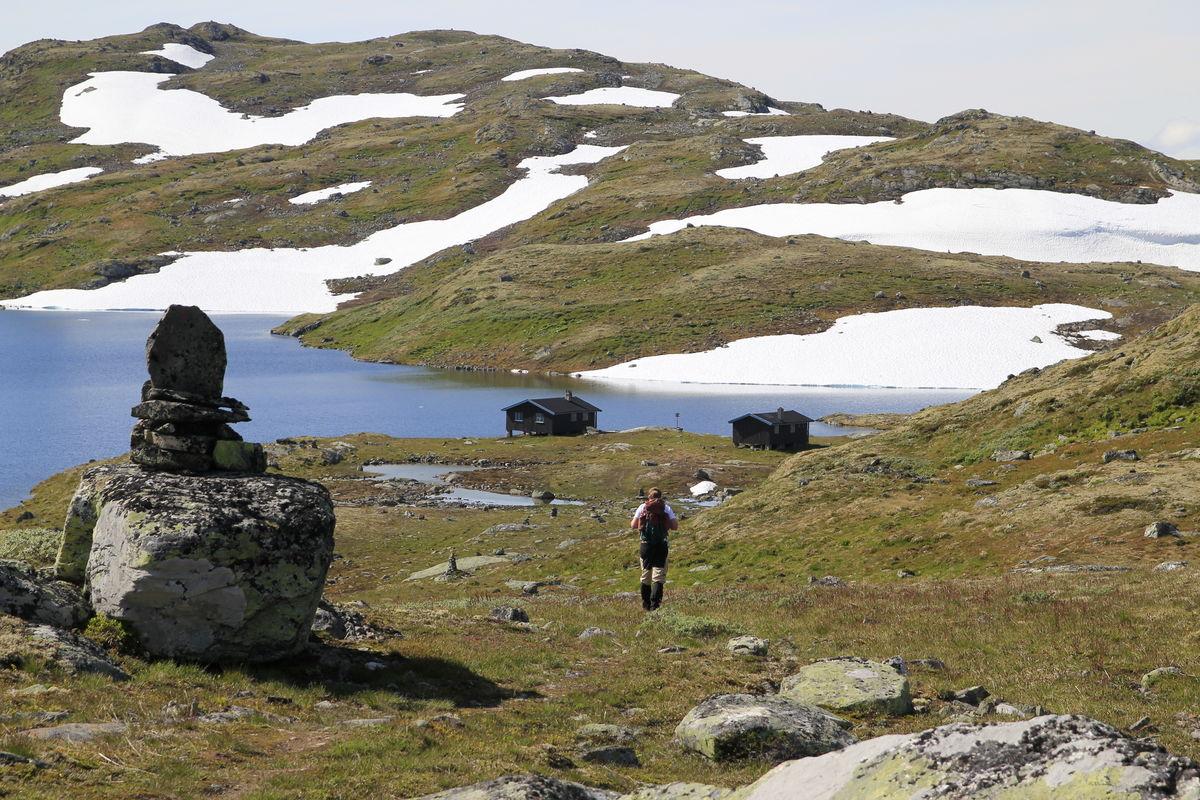 På veg mot Slettningsbu juli 2012