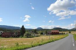 Så kommer vi til Eidalsroa - Sigdals svar på Bakkebygrenda.  - Foto: Hilde Roland