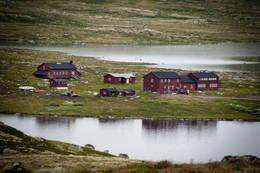 Her er et bilde fra åssiden på vei mot Halne sett mot Krækkja  - Foto: Frode Drønen