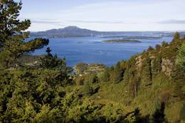 Utsikt mot Siggjo og Trekantsambandet - Foto: Haugesund Turistforening