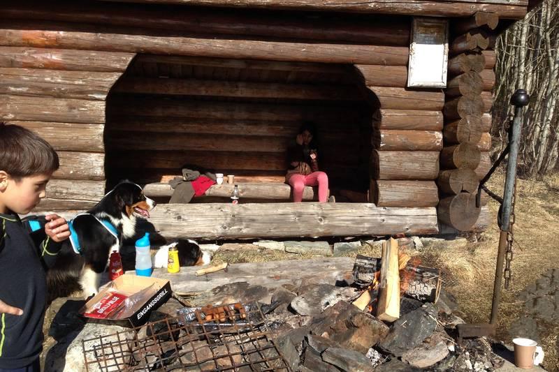 Gapahuken på Finnheimen