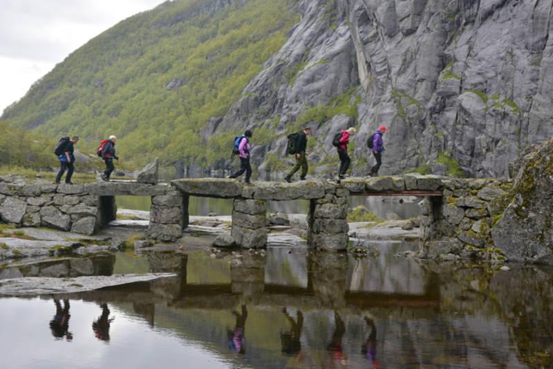Den flotte steinbrua ved Viglesdalsvatnet
