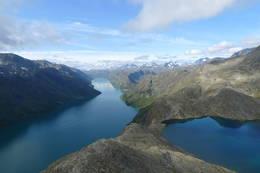 Bilde fra Besseggen retning vest -  Foto: Fredrik Birkedal Dombeck