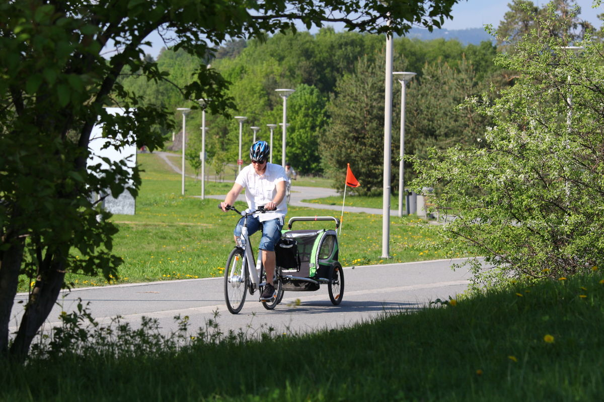 Sykkelveiene i området egner seg både til transport og tursykling