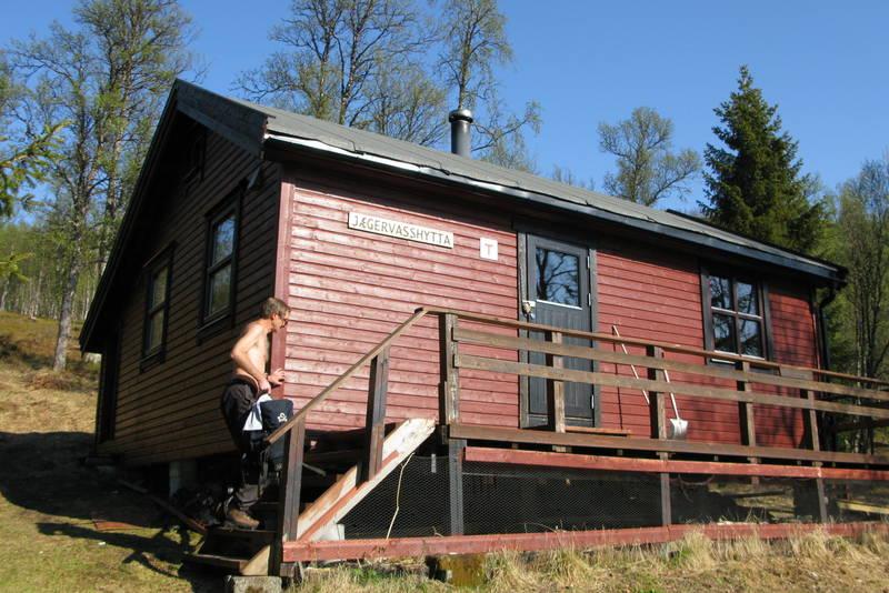 Jægervasshytta. Bilde er tatt 28.mai 2010