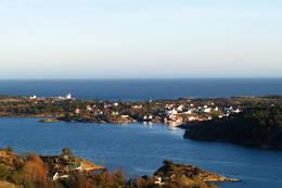Lyngør sett fra Langhei -  Foto: Aust-Agder turistforening