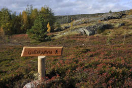Skiltet ved start på stien - Foto: Kjell Fredriksen