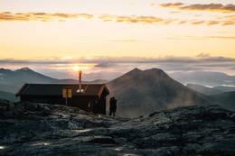Solnedgang på Vasstindbu - Foto: