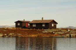 Kjølihytta ligger høyt og fritt til -  Foto: Odd Harald Eriksen