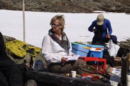 Møte med svenske turfolk på Nasafjell -  Foto: Robert Bjugn
