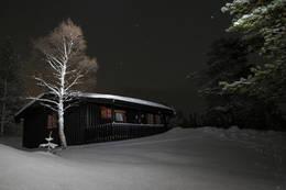 Stjernehimmel over Kvitfjellhytta  - Foto: Andreas Lorentzen