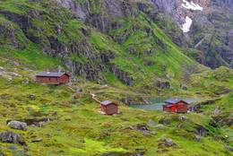 Hytteanlegget Trollfjordhytta - Foto: Trond Løkke