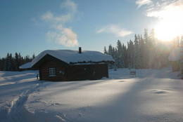 Det er mye snø på Åkersætra vinterstid. - Foto: