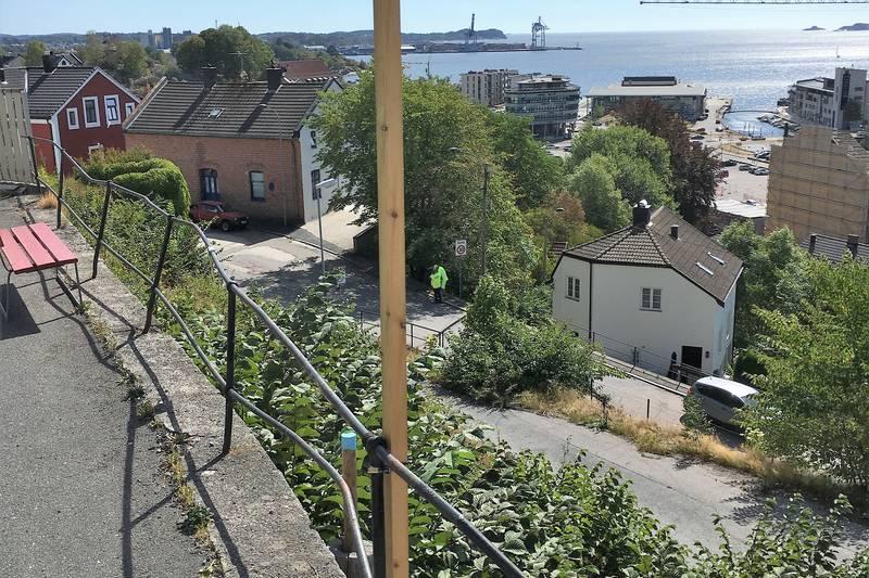 Utsikt over Hammerdalen og Sanden,Larvik