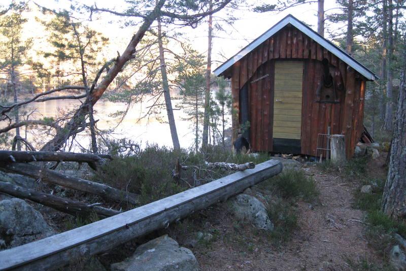 Den nye hytta ved Skarpenæring.